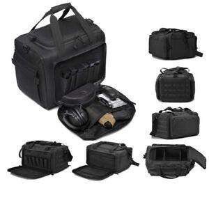 Tactical Camera Gun Range Bag Deluxe Pistol Shooting Duffle Bags