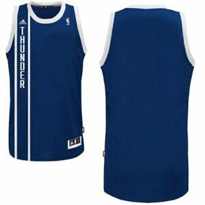 Adidas NBA Men's Oklahoma City Thunder Blank Swingman Jersey, Navy