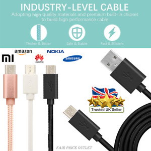 For Samsung Galaxy Tab A Tablet Micro USB Fast Charging Data Sync Charger Cable