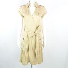 DIANE VON FÜRSTENBERG Wickelkleid Gr. DE 40 US 10 beige Damen Dress Robe Kleid