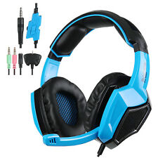 Sades SA-920 Stereo Gaming Headset Headphone with MIC for PS4 Pro/Xbox/PC Blue