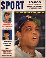 1961 SPORT magazine, baseball Willie Mays, San Francisco Giants, Yogi Berra ~ Fr