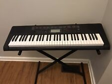Casio LK-160 Keyboard with Stand and Key Lighting System Tested and Working