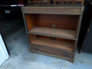 Antique Mission Oak 2 Stack Barrister Lawyer's Bookcase, Original Finish