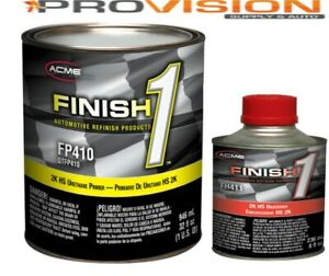 FINISH 1 2K HS URETHANE PRIMER; GRAY QUART KIT WITH ACTIVATOR(FP410 WITH FH411)
