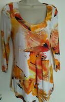 Madeline Multi Butterfly Print Long Top UK 10 Bust 30 Length 26 Inch😍