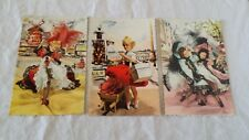 Lot de 3 cartes postales Poupées SIMS Décor