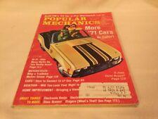 Popular Mechanic Magazine October 1970-71 cars edition