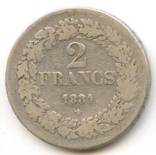 Belgique Léopold Ier 2 Francs 1834 KM 9.1