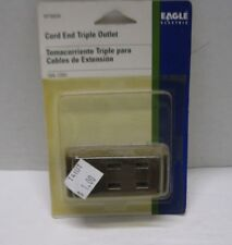 New Eagle Electric Cord End Triple Outlet BP2603B Brown w/screws 10A-125V