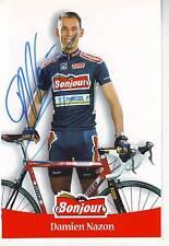CYCLISME  carte cycliste DAMIEN NAZON  équipe BONJOUR 2000 signée