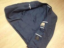 "M&S COLLEZIONE Jacket Blazer Nova Fides Italian Linen Grey Blue Pinstripe 40"""