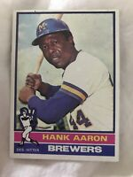 1976 TOPPS #550 HANK AARON Baseball Card HOF Ungraded FAST SHIPPING