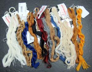 17x Needlepoint/Embroidery THREAD AMY'S Burmilana wool/acrylic-black,grays-ZZ607