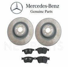 For Mercedes W164 ML63 AMG W251 R-Class Set of 2 Front Brake Disc Rotors Genuine