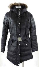 Tom Tailor Daunenmantel XL 42 Damen schwarz Kunstfell Kapuze Steppmantel top