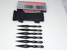 "Defender 5.5"" Set of 6 Stainless Steel Throwing Knives Black 5640"
