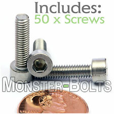 M4 x 16mm - Qty 50 - DIN 912 SOCKET HEAD Cap Screws - Stainless Steel A2 / 18-8