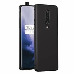 For OnePlus 7 Pro Black New Ultra Slim Soft Silicone TPU Matte Back Case Cover