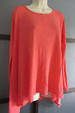 FRESH PRODUCE Shirt Studio Top $59 L/S Flowy Bust Pull Over Asymmetrial Hem