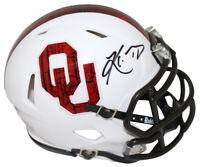 Kyler Murray Autographed Oklahoma Sooners White Speed Mini Helmet BAS 24988
