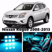 10pcs LED ICE Blue Light Interior Package Kit for Nissan Rogue 2008-2013