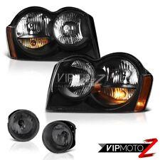 05-07 Jeep Grand Cherokee Offroad Headlights Graphite Smoke Fog Lights OE Style