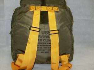 Pilot Survival kit Cold Climate Back Pack Empty Kit Made In USA 1680-00-082-2512