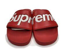 Supreme Slides Sandals Flip Flops S/S 14 Red box Logo Relief Motion Accessories