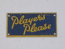 BASSETT LOWKE O GAUGE TINPLATE MODEL RAILWAY ADVERT SIGN PLAYERS PLEASE