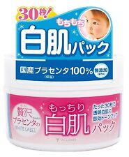 Japan White Rich Placenta Moistured White Skin Pack 130g From Japan