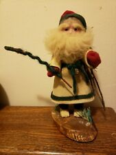 """Belsnikle Handmade Santa Claus 10"""" Leather Outfit -One of a Kind 1945"""