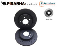 VOLVO XC90 2.0 D5 T5 T6 XC60 2.0 D4 D5 T8 T5 2016- REAR BRAKE DISCS COATED BLACK