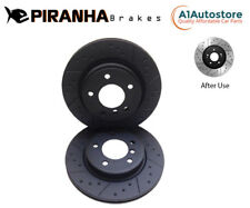 FRONT DIMPLED GROOVED BRAKE DISCS FOR BMW E46 330i 330d Piranha 1999-2010 325mm
