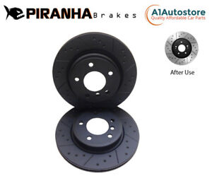 REAR DIMPLED GROOVED BRAKE DISCS FOR FORD KUGA 2.0 TDCi 2.5 AWD 4X4 2008- 302mm