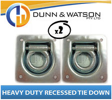 Heavy Duty Recessed Tie Down x2 Caravan, Horse Float Camper Trailer lashing ring