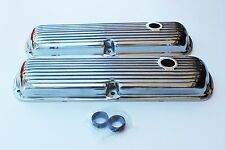FORD WINDSOR 289-302-351 ALLOY ROCKER COVERS FINNED STYLE WITH GROMMETS HOT ROD