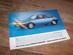 Prospectus / Brochure SUBARU 1600 SRX (Leone) 1981 //