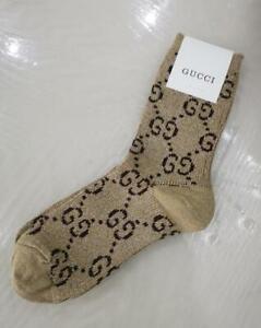 Unisex glisten Brown Cotton Blend Socks One size