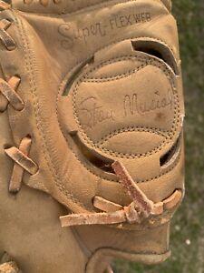 "Stan Musial Montgomery Ward LHT Baseball Glove 60 21205 HOF Vtg 11"" Cardinals"
