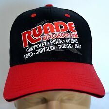 New Hat Runde Auto Group Chevy Ford Jeep Dodge Black Baseball CAP Lid Adjustable