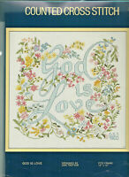 God Is Love Sampler Counted Cross Stitch KIT Sunset 2985 Opened not stitched