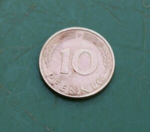 1983 German 10 Pfennig Coin Good Condition Bundesrepublik Deutschland Germany