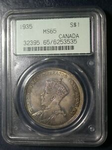 1935 Canadian Dollar PCGS MS65 - OGH