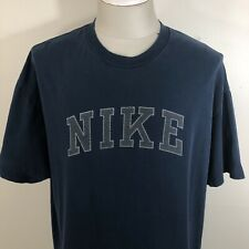dd622f4c Vintage 90s NIKE Navy Blue Men's Spell Out T Shirt Men's ...
