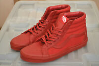 VANS SK8 HI REISSUE SHOES - SNAKE LEATHER - CHILLI PEPPER (RED) - 100% AUTHENTIC