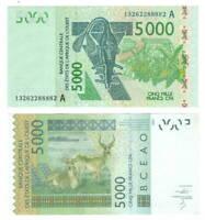 UNC COTE D'IVOIRE IVORY COAST 5000 West African Francs (2003) P-117A