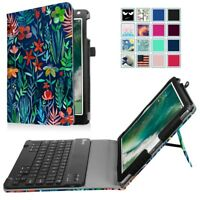 For New iPad 6th Gen 9.7 2018 Tablet Bluetooth Keyboard Case Folio Stand Cover