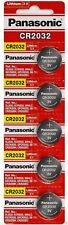 Panasonic CR2032 Lithium 3 Volt Battery (5 pieces)