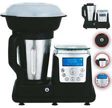 10 in 1 Thermo Multikocher Küchenmaschine 1350W Kochen Mixen Dampfgaren Schwarz